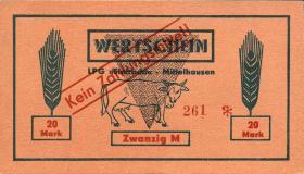 """L.089.6 LPG Mittelhausen """"Eintracht"""" 20 Mark (1)"""