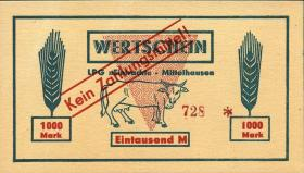 """L.089.9 LPG Mittelhausen """"Eintracht"""" 1000 Mark (1)"""
