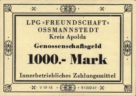 """L.105.9 LPG Ossmannstedt """"Freundschaft"""" 1000 Mark (1)"""