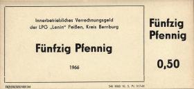 "L.108.1 LPG Peißen ""Lenin"" 50 Pfennig (1)"