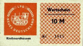 """L.119a.16 LPG Riethnordhausen """"Neues Deutschland"""" 10 Mark (1)"""
