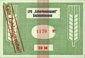 """L.123.10 LPG Sachsenhausen """"Scherkondequell"""" 20 Mark (1)"""