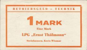 """L.132c.1 LPG Steinhausen """"Ernst Thälmann"""" 1 Mark (1)"""