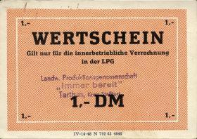 """L.135.3 LPG Tarthun """"Immer bereit"""" 1 DM (1-)"""