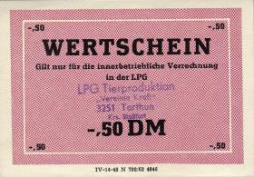 "L.136.10 LPG Tarthun ""Vereinte Kraft"" 0,50 DM (1)"