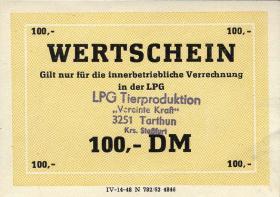 "L.136.16 LPG Tarthun ""Vereinte Kraft"" 100 DM (1)"