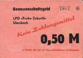"""L.143a.9 LPG Utenbach """" Frohe Zukunft"""" 0,50 Mark (2)"""