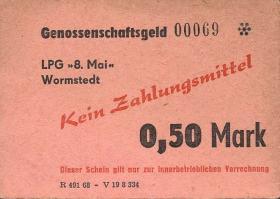 "L.154.3 LPG Wormstedt ""8.Mai"" 0,50 Mark (2)"