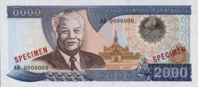 Laos P.33s 2000 Kip (1997) Specimen (1)