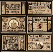 Notgeld Lauenstein Oberfranken (3 Werte)