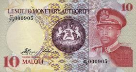 Lesotho P.03a 10 Maloti 1979 (1)