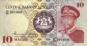 Lesotho P.06b 10 Maloti 1981 (1)