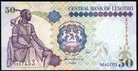 Lesotho P.17d 50 Maloti 2001 (1)