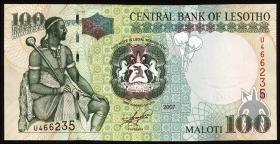 Lesotho P.19d 100 Maloti 2007 (1)