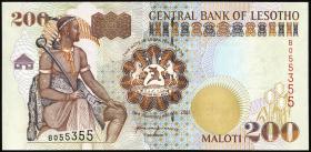 Lesotho P.20b 200 Maloti 2001 (1)