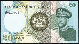 Lesotho P.07b 20 Maloti 1984 (1)