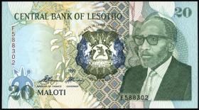 Lesotho P.12a 20 Maloti 1990 (1)