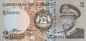 Lesotho P.01a 2 Maloti 1979 (1)