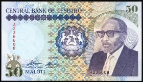 Lesotho P.13a 50 Maloti 1989 (1)