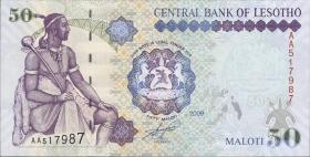 Lesotho P.17e 50 Maloti 2009 (1)