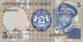 Lesotho P.02a 5 Maloti 1979 (1)