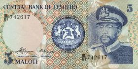 Lesotho P.05 5 Maloti 1981 (1)