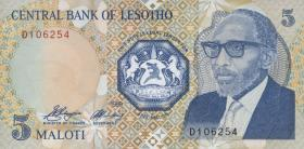 Lesotho P.10 5 Maloti 1989 (1)