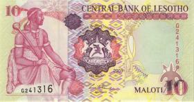 Lesotho P.15b 10 Maloti 2003 (1)