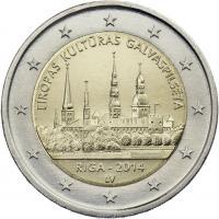 Lettland 2 Euro 2014 Riga - Kulturhauptstadt