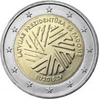 Lettland 2 Euro 2015 EU-Ratspräsidentschaft