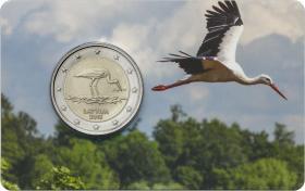 Lettland 2 Euro 2015 Schwarzstorch Coincard