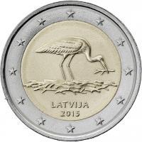 Lettland 2 Euro 2015 Schwarzstorch