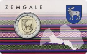 Lettland 2 Euro 2018 Zemgale Coincard