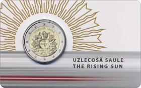 Lettland 2 Euro 2019 Aufgehende Sonne - Wappen Lettlands Coincard