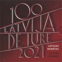 """Lettland Euro-KMS 2021 """"100 Jahre Lettland De Jure"""""""