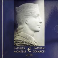 Lettland Eurokursmünzensatz 2014 Folder