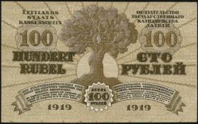 Lettland / Latvia P.07f 100 Rubel 1919 (2)