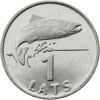 Lettland 1 Lats 1992 Lachs