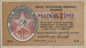 Lettland / Latvia P. R1 1 Rubel 1919 Riga (1)