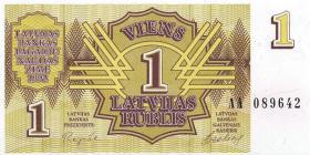 Lettland / Latvia P.35 1 Rubel 1992 (1)