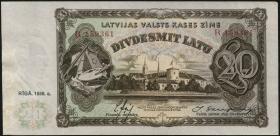 Lettland / Latvia P.30b 20 Latu 1936 (2)