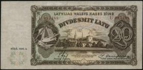 Lettland / Latvia P.30b 20 Latu 1936 (3)