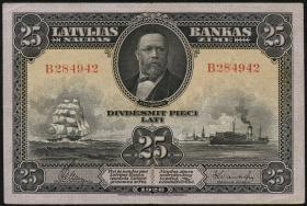Lettland / Latvia P.18 25 Latu 1928 (3+)