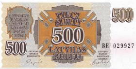 Lettland / Latvia P.42 500 Rubel 1992 (1)
