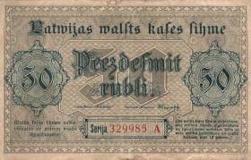 Lettland / Latvia P.06 50 Rubel 1919 (3)