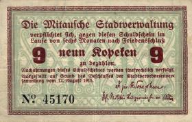 Lettland / Latvia LE 26a: 9 Kopeken 1915 Mitau (2)