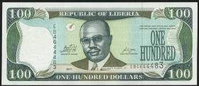 Liberia P.30f 100 Dollars 2011 (1)