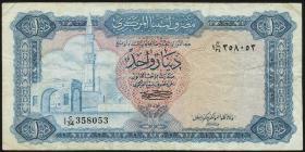 Libyen / Libya P.35b 1 Dinar (1972) (3-)