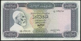 Libyen / Libya P.37b 10 Dinars (1972) Omar el-Mukhtar (3+)