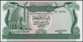 Libyen / Libya P.44a 1 Dinar (1981) (1)